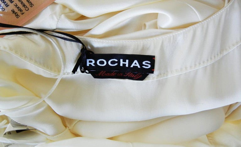 Rochas Runway 30's Inspired Harlowesque Old Hollywood Satin Bias Cut Gown  NWT In New Condition For Sale In Los Angeles, CA