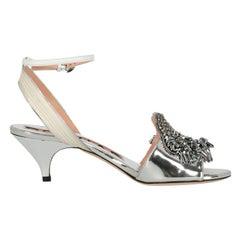 Rochas Woman Sandals Silver EU 35.5