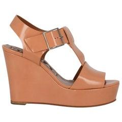 Rochas Women  Wedges Orange Leather IT 38
