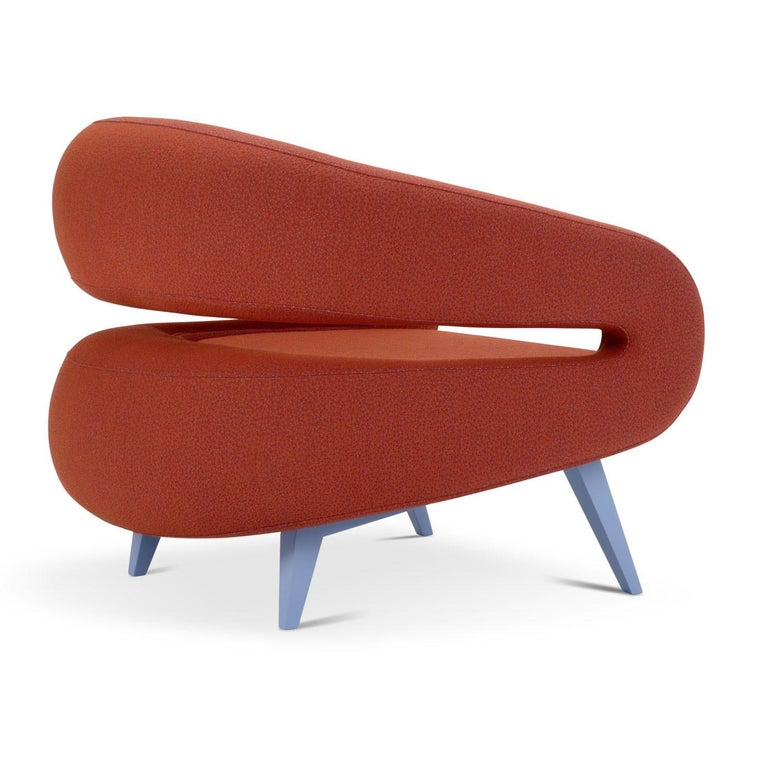 Modern Roche Armchair in Red by Daria Zinotnaya For Sale