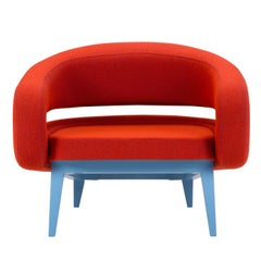 Roche Armchair in Red by Daria Zinovatnaya