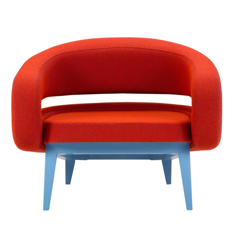 Roche Armchair in Red by Daria Zinotnaya For Sale