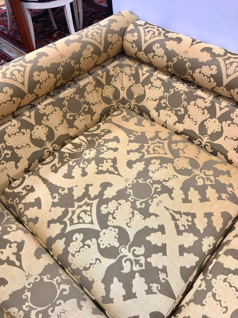 Roche Bobois Architectural Modular Sofa Sectional 3-Piece Custom Kravet Fabric For Sale 4