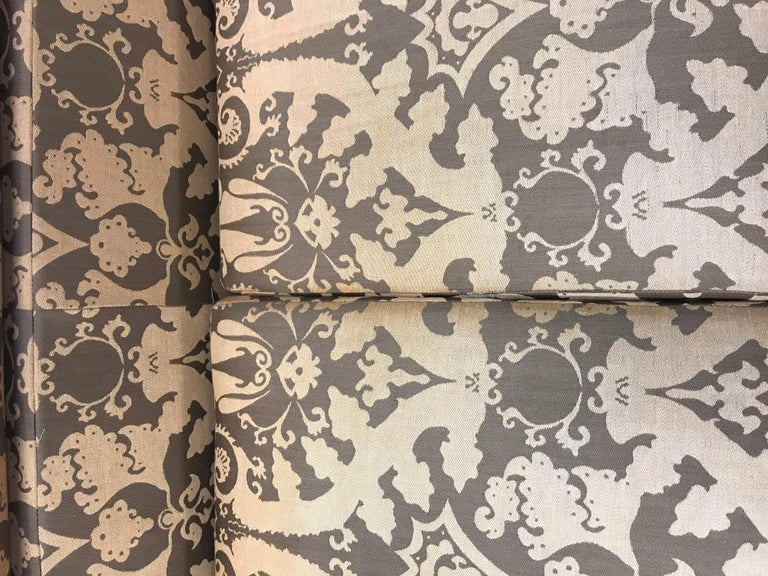 Roche Bobois Architectural Modular Sofa Sectional 3-Piece Custom Kravet Fabric For Sale 5