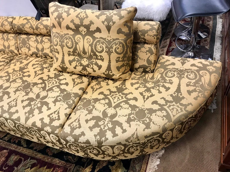 Roche Bobois Architectural Modular Sofa Sectional 3-Piece Custom Kravet Fabric In Good Condition For Sale In West Hartford, CT