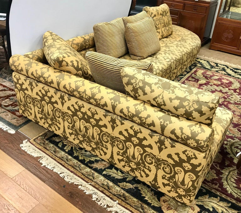 Contemporary Roche Bobois Architectural Modular Sofa Sectional 3-Piece Custom Kravet Fabric For Sale