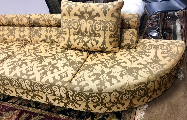 Roche Bobois Architectural Modular Sofa Sectional 3-Piece Custom Kravet Fabric For Sale 3