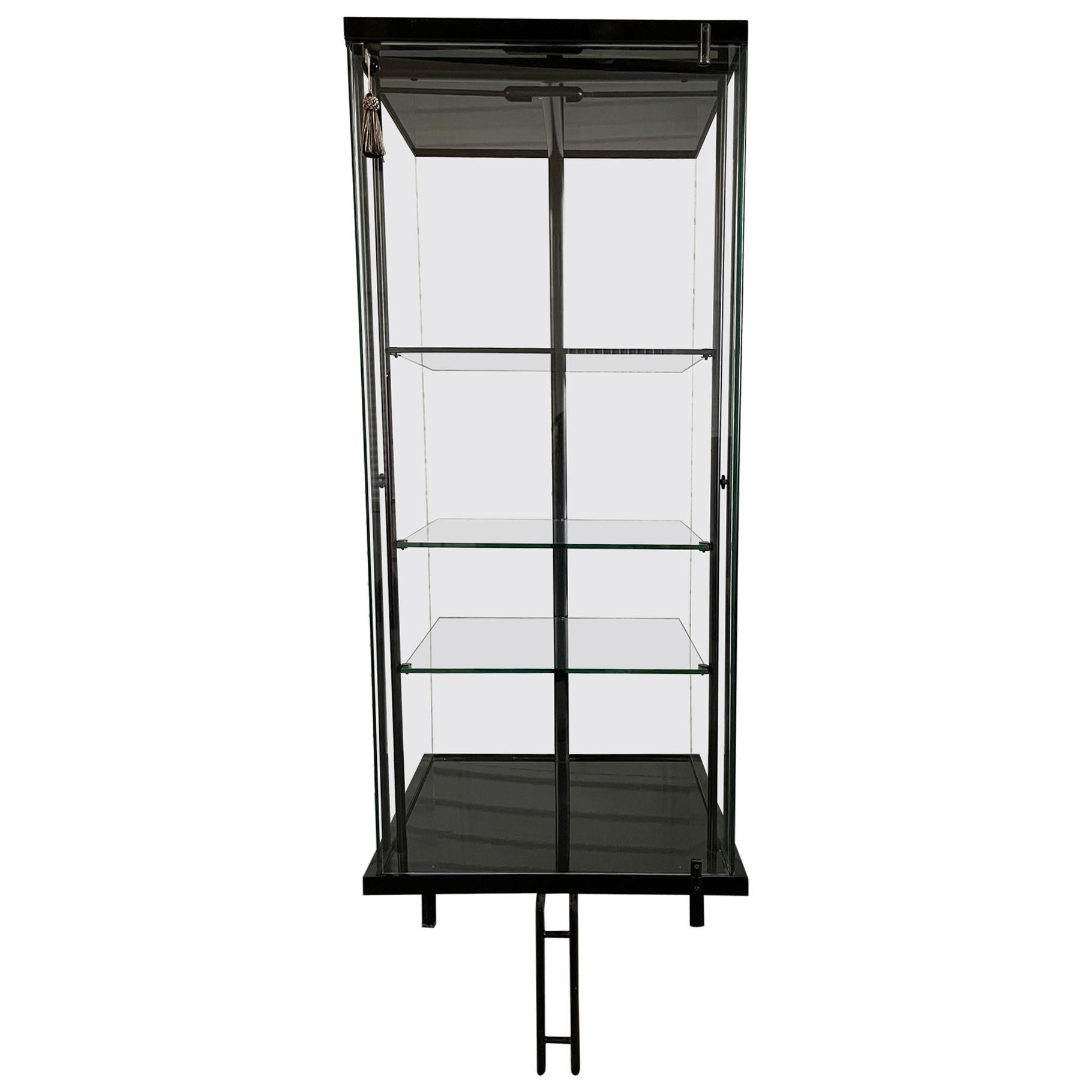 Roche Bobois Contemporary Lacquer and Glass Display Cabinet, 20th Century