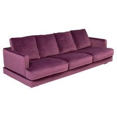 Roche Bobois Eclipse 4 Seater Sofa Deep Purple Velvet