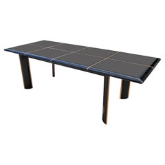 Roche Bobois for Pierre Cardin Italian High Gloss Black Lacquer Dining Table