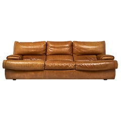 Roche Bobois French Leather Sofa