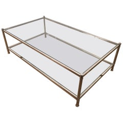 Roche Bobois, Large Chrome Coffee Table, circa 1970