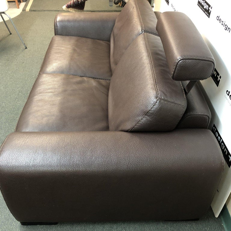Roche Bobois Leather Sofa In Good Condition For Sale In San Francisco, CA