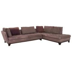 Roche Bobois Littoral II Fabric Corner Sofa Gray Lilac Sofa Couch