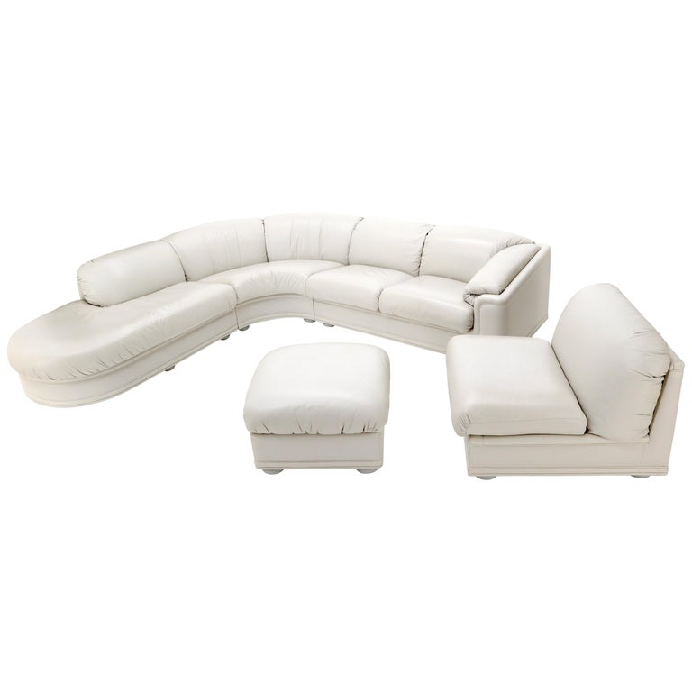 Enjoyable Roche Bobois Living Room Set Sectional Corner Sofa Lounge Chair Ottoman Interior Design Ideas Gresisoteloinfo