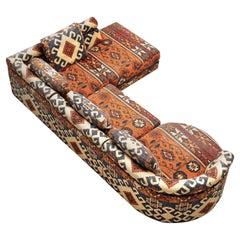 Roche Bobois Modular Corner Sofa in Patterned Upholstery