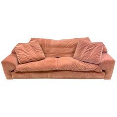 Roche Bobois Pink Velvet Sofa
