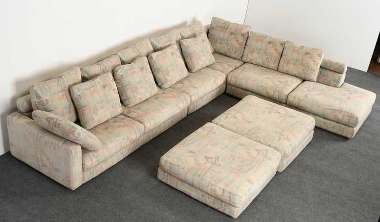 Late 20th Century Roche Bobois Sectional Sofa, 1987