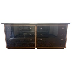 Roche Bobois Signed Black Lacquered Dresser Chest Credenza Sideboard Buffet