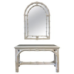 Roche Style Gampel Stoll Console Table and Mirror