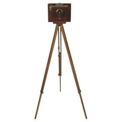 Rochester Optical Co. Large Format Wood Camera Tripod and Case