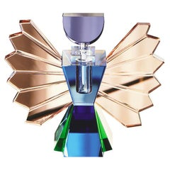 Rochester Perfume Flacon, Hand-Carved Crystal Evoking a Vibe of Vintage Boudoir