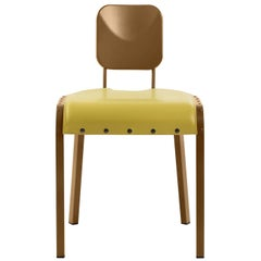 Rock 4 Chair with Yellow Leather Seat by Marc Sadler