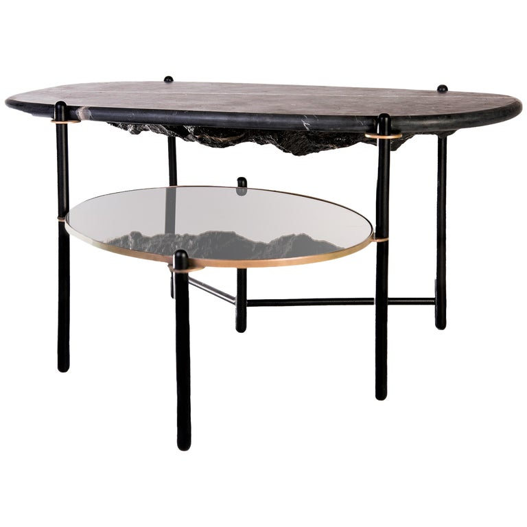 Rock Center Table Contemporary Coffee Table With Marble