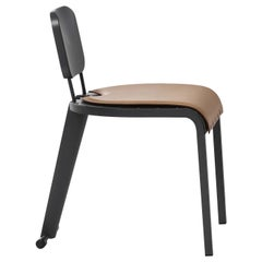 Rock Chair with Leather Seat by Marc Sadler