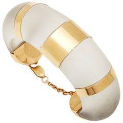 Rock Crystal and Gold Bracelet