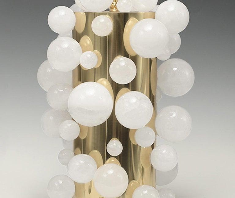 Contemporary Rock Crystal Bubble Lamps by Phoenix For Sale