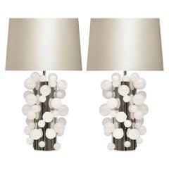 Rock Crystal Bubble Lamps by Phoenix