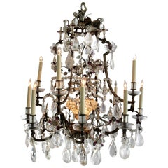 Rock Crystal Chandelier by Maison Bagues