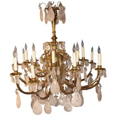 Rock Crystal Chandelier in the Louis XV Style, circa 1910