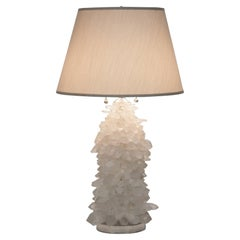 Rock Crystal Cluster Lamp w/ Nickel Base