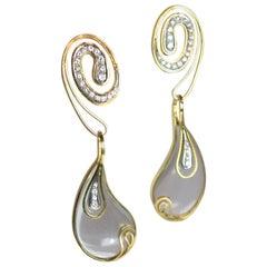 Rock Crystal Diamond Lalounis Earrings