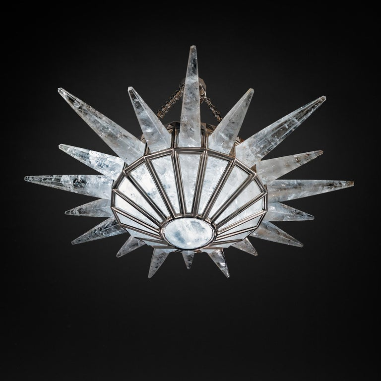 Rock Crystal Dream Chandelier by Alexandre Vossion For Sale 3
