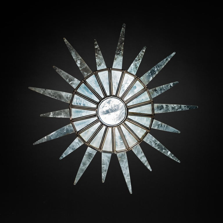 Rock Crystal Dream Chandelier by Alexandre Vossion For Sale 4