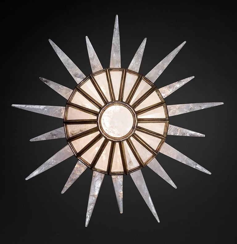 Rock Crystal Dream Chandelier by Alexandre Vossion For Sale 5