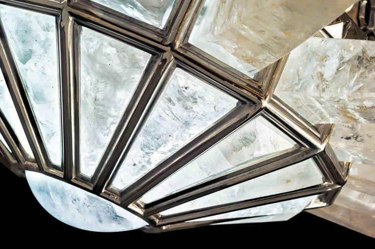 Rock Crystal Dream Chandelier by Alexandre Vossion In Excellent Condition For Sale In SAINT-OUEN, FR