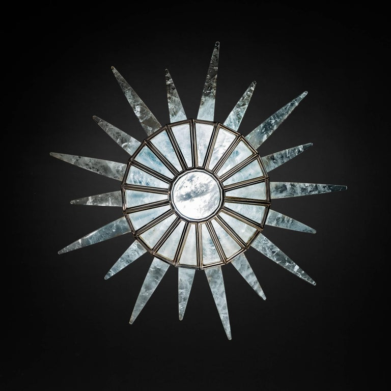 Bronze Rock Crystal Dream Chandelier by Alexandre Vossion For Sale