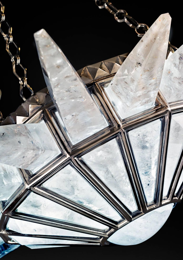 Rock Crystal Dream Chandelier by Alexandre Vossion For Sale 2