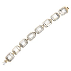 Goshwara Emerald Cut Rock Crystal  Bracelet