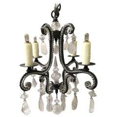 Rock Crystal Four-Light Chandelier