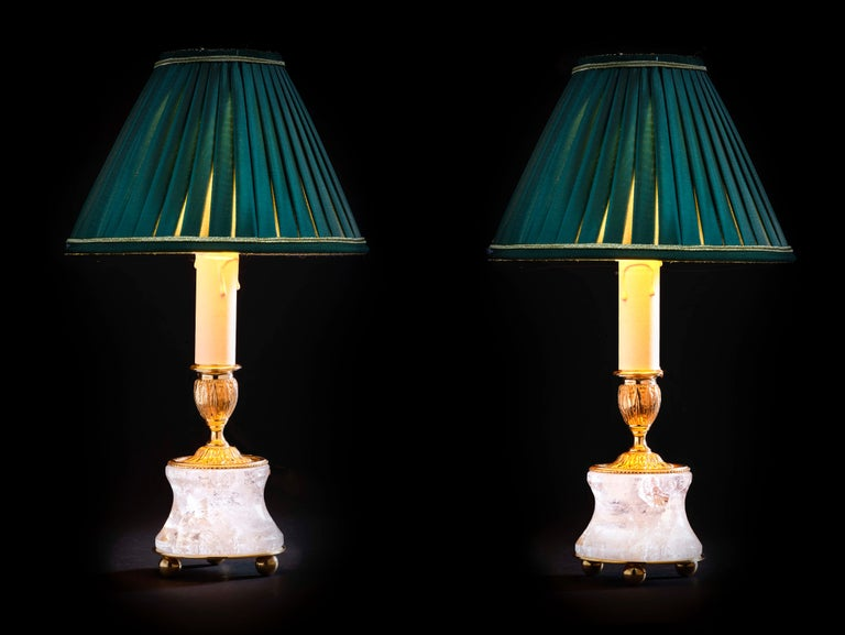 Rock Crystal Lamp by Alexandre Vossion In New Condition For Sale In SAINT-OUEN, FR