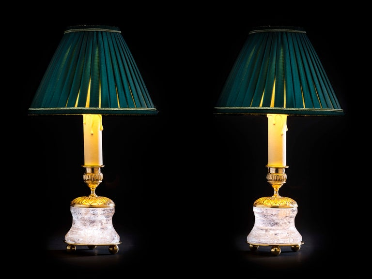 Contemporary Rock Crystal Lamp by Alexandre Vossion For Sale