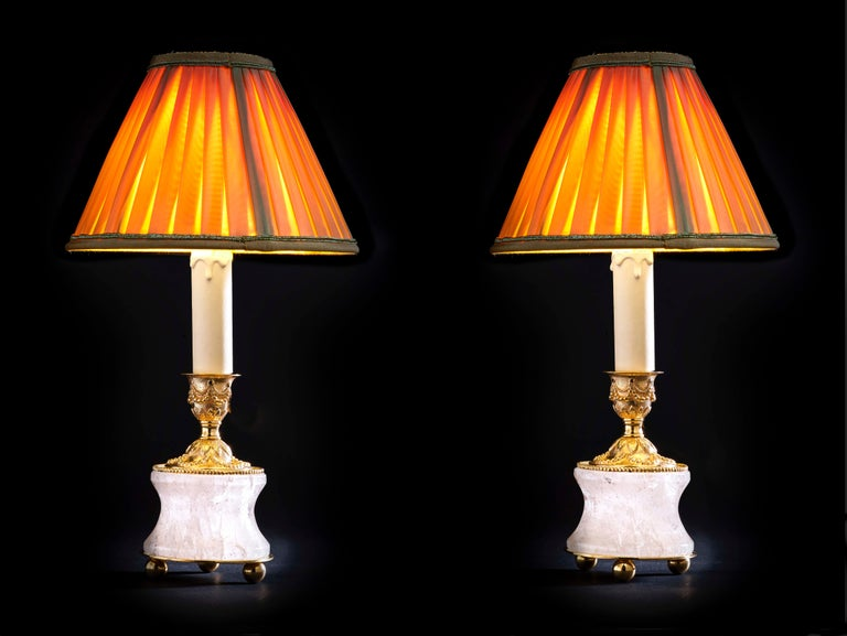 Rock Crystal Lamps by Alexandre Vossion For Sale 2