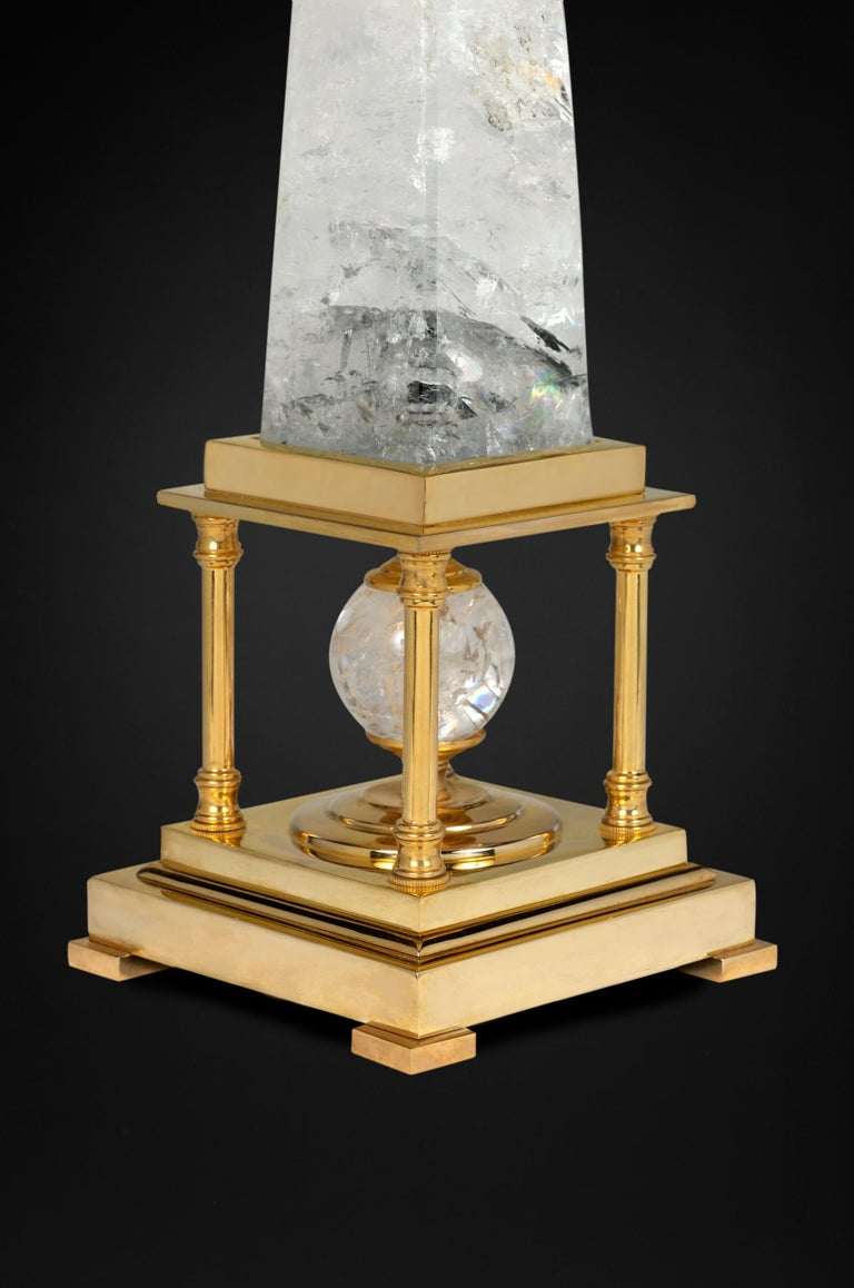 Rock Crystal Lamps by Alexandre Vossion For Sale 3