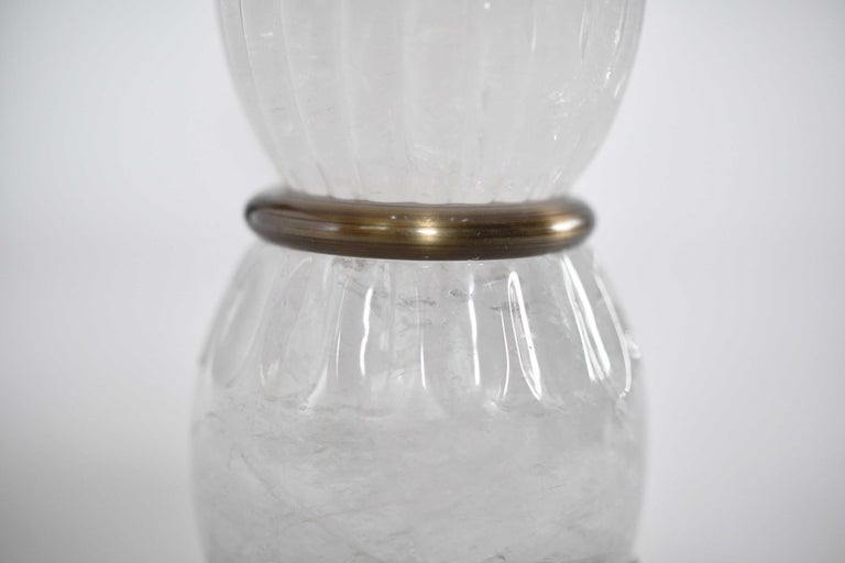 Rock Crystal Lamps by Phoenix In Excellent Condition For Sale In New York, NY