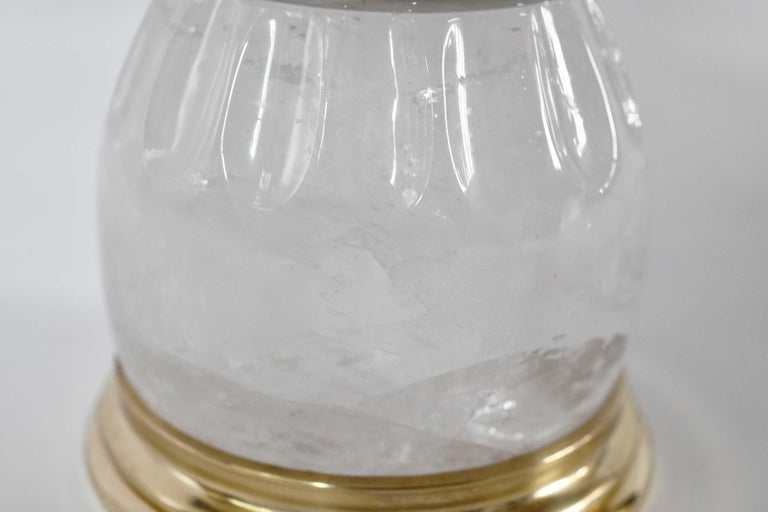 Contemporary Rock Crystal Lamps by Phoenix For Sale